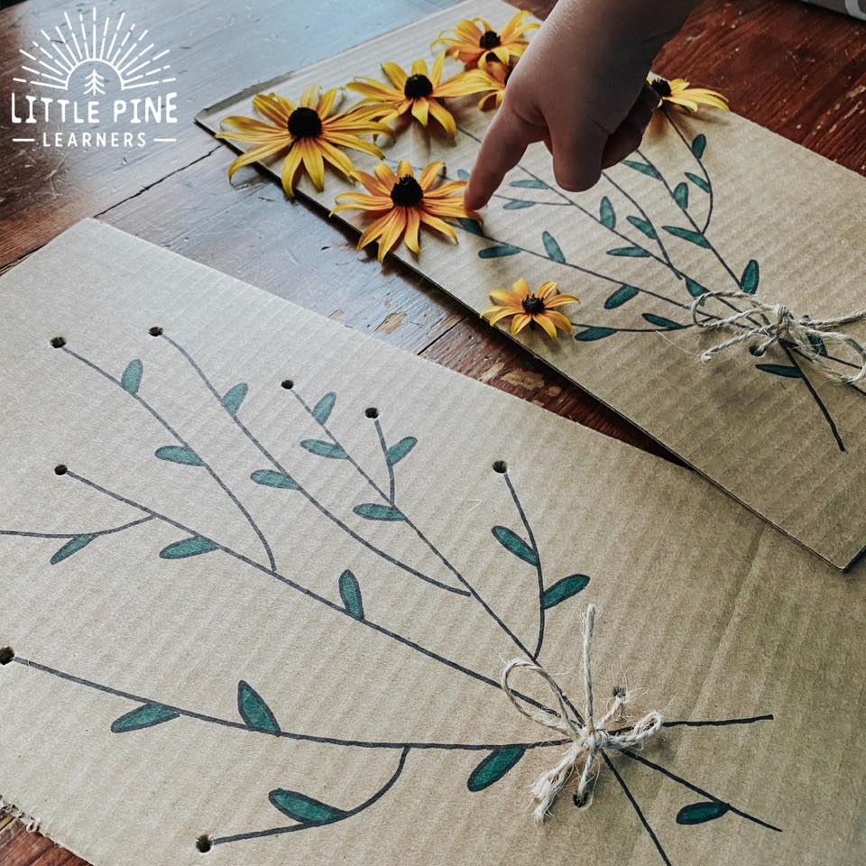 An easy and beautiful way to practice fine motor skills!