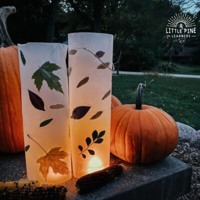 Simple Leaf Lanterns to Make With Kids