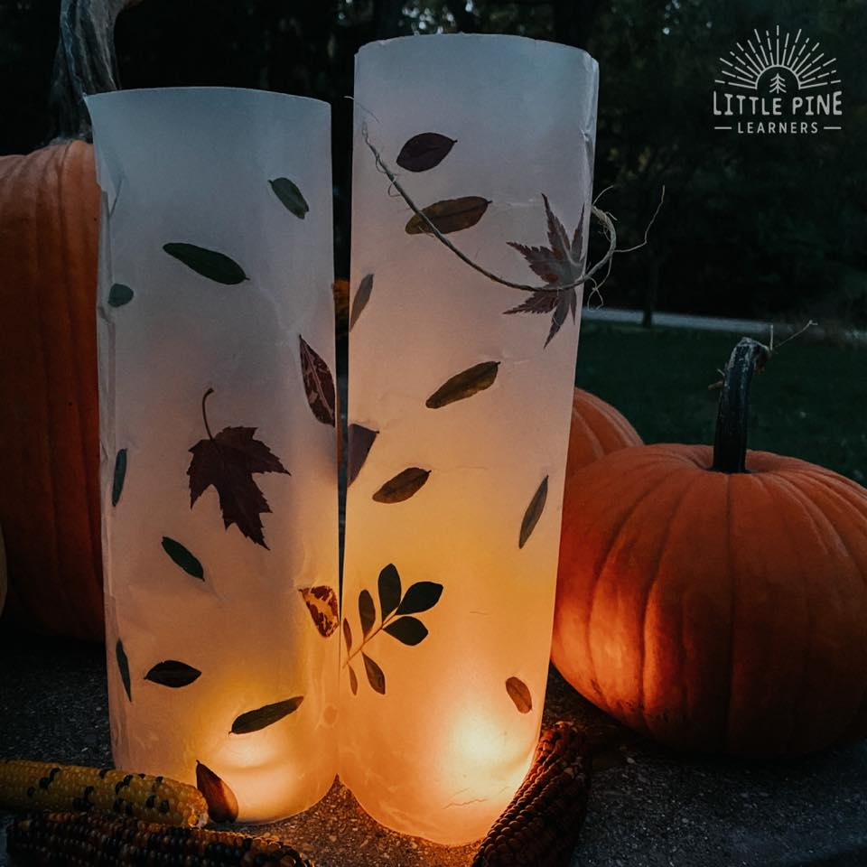 Fall luminary for kids!