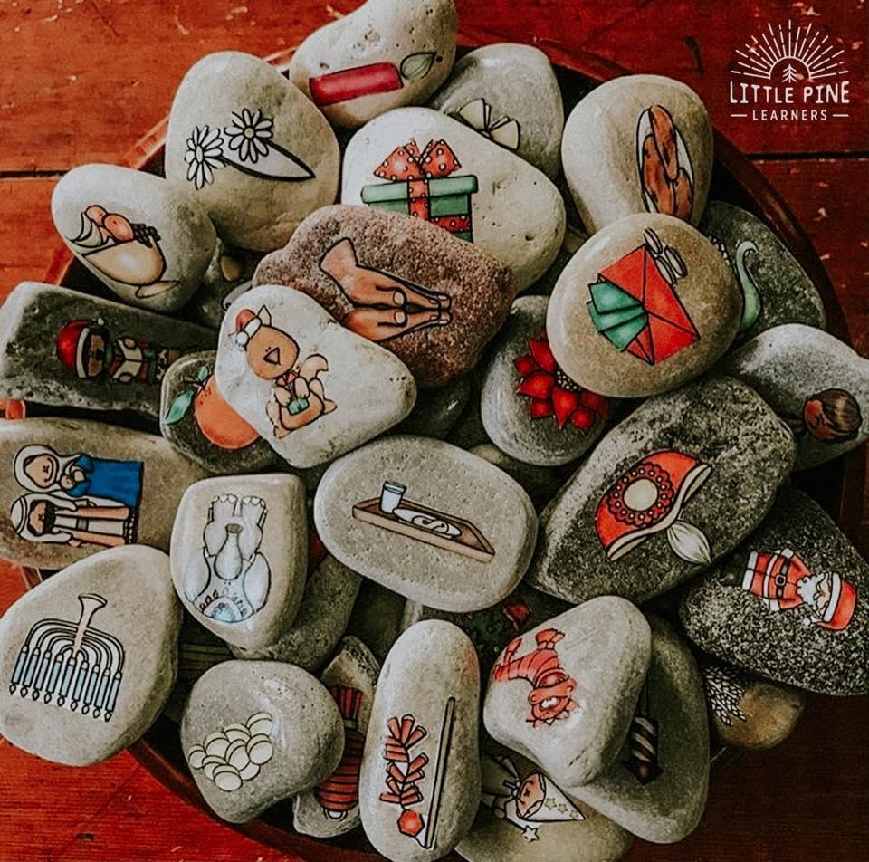 Holiday Story Stones!