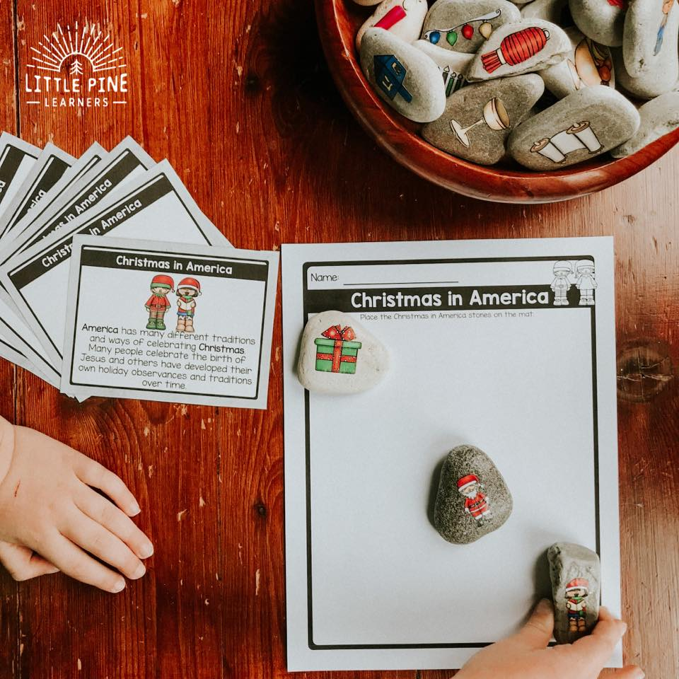 Holiday story stones and printables!