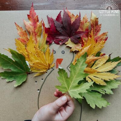 Easy leaf turkey craft!