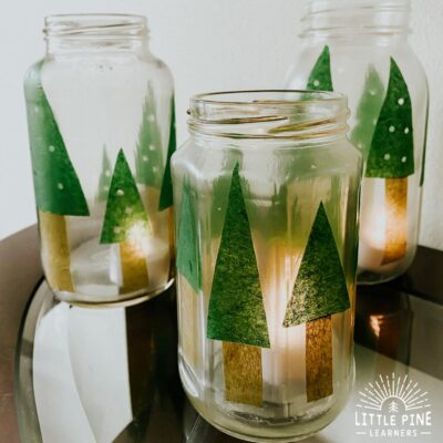 This mason jar lantern makes the perfect handmade Christmas gift or decoration for your home! They are so easy to make and kids will love to help with the process.