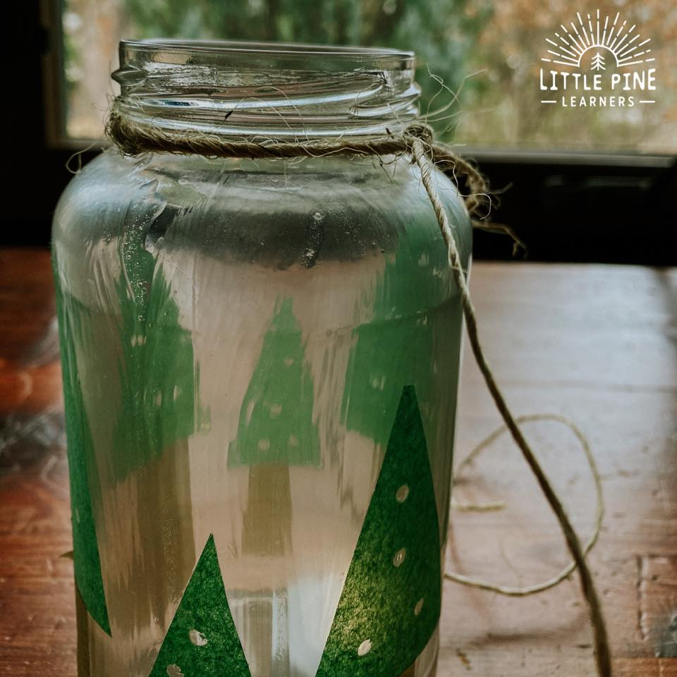 This mason jar lantern makes the perfect handmade Christmas gift or decoration for your home! They are so easy to make, inexpensive, and kids will love to help with the process.
