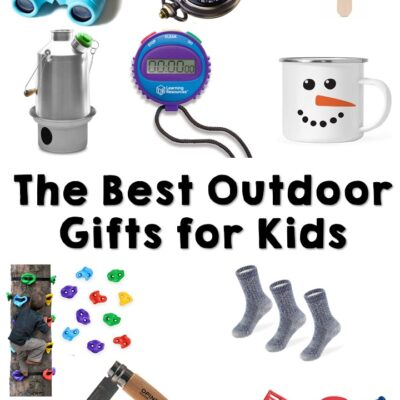 Check out this long list of 30+ outdoor gifts for nature loving kids. Here you will find the perfect gifts for birthdays, Christmas, or just for fun!