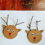 This DIY reindeer ornament is so easy to make and looks adorable when complete!