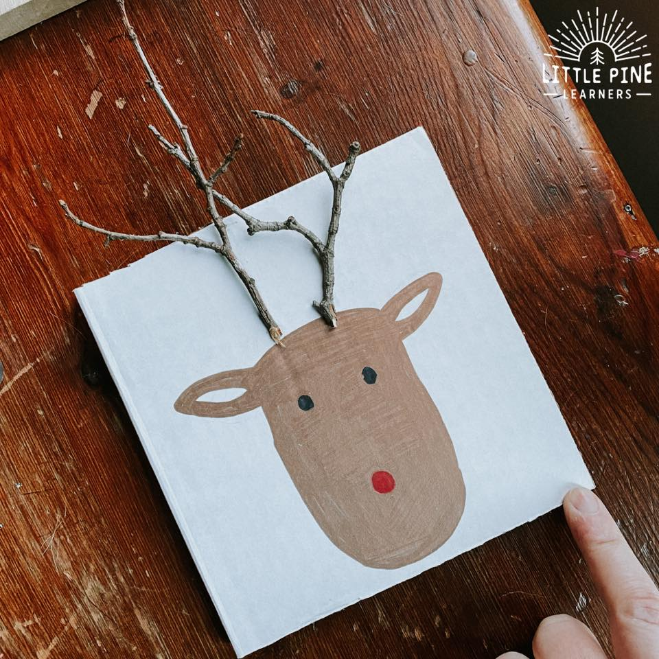 Cute reindeer, snowman, and ornament eco friendly Christmas cards.