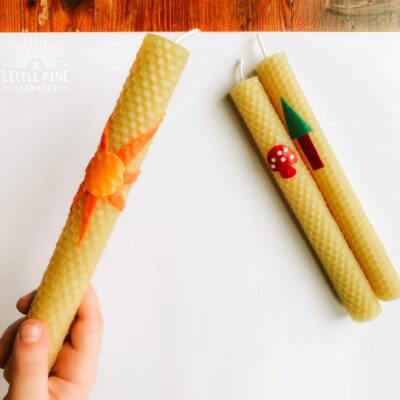 Rolled Beeswax Candles That Kids Will Love!