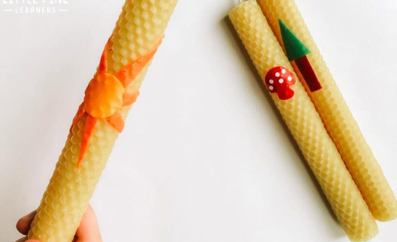 Making rolled beeswax candles is a fun activity for both kids and adults! They are easy to make and a safe way for kids to make candles.