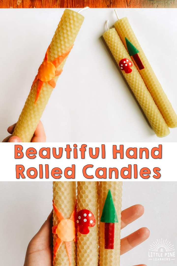 Making rolled beeswax candles is a fun activity for both kids and adults!