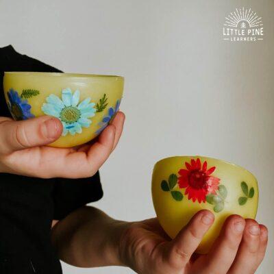 DIY Bowls Made of Beeswax