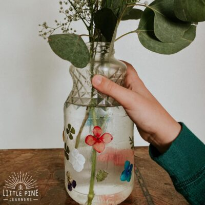 This gorgeous and oh so easy to make DIY flower vase is a must try craft!