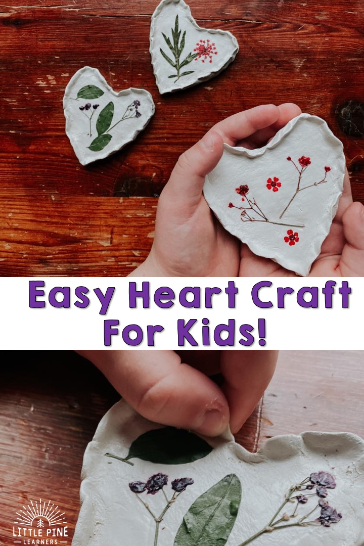 This sweet heart craft for kids is the perfect handmade gift for Valentine's Day or Mother's Day.