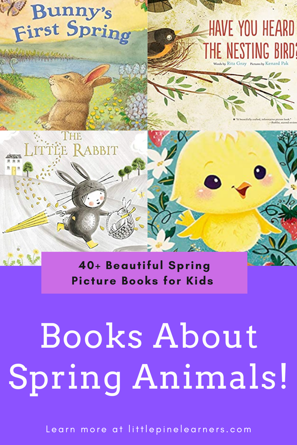Check out 40+ nature-inspired spring books for kids right here in one spot!