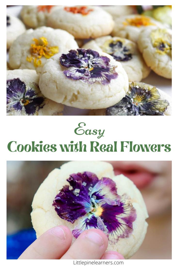 Super simple edible flower cookies