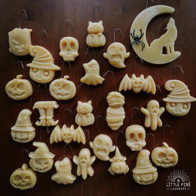 Beeswax Halloween Tree Ornaments